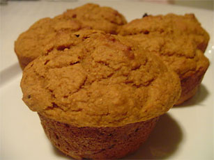 Pumpkin Muffins from Chef Brent at Support Hose Plus